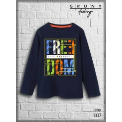Remera nene freedom Gruny