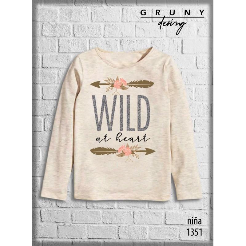 Remera nena wild Gruny