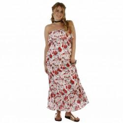 Vestido Fibrana Largo Que Sera