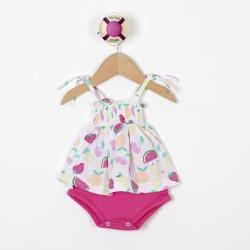 Body vestido frutas beba Premium