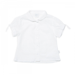 Camisa plumetti blanca beba Pilim