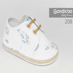Zapatito bebe blanco con beige Gorditoo