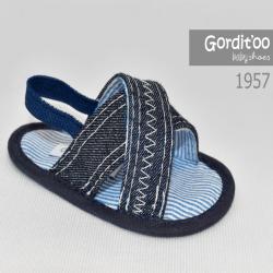Sandalia cruzada jean bebe Gorditoo