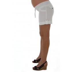 Short gabardina con cinta hilera Que Sera