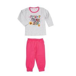Pijama estampado nena Naranjo