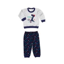 Pijama estampado bici bebe Naranjo