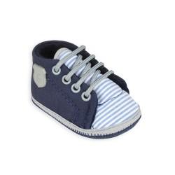 Zapatilla azul con rayas bebe Gorditoo
