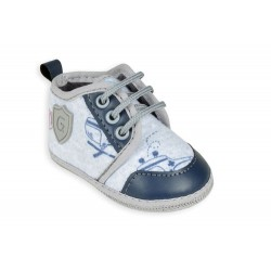 Zapatilla gris estampada bebe Gorditoo