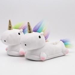 Pantufla unicornio con luz