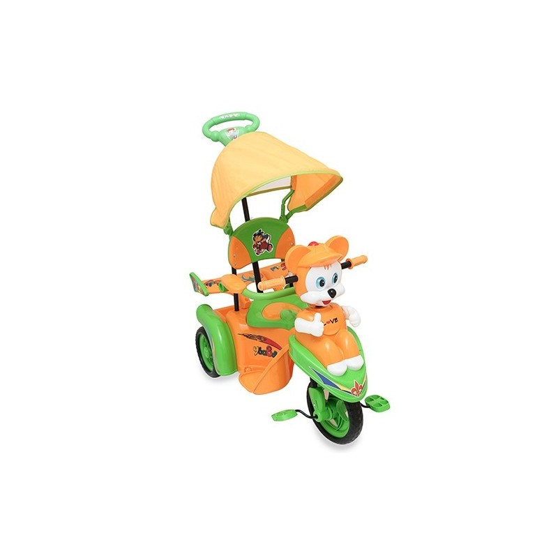 Triciclo musical con capota Love