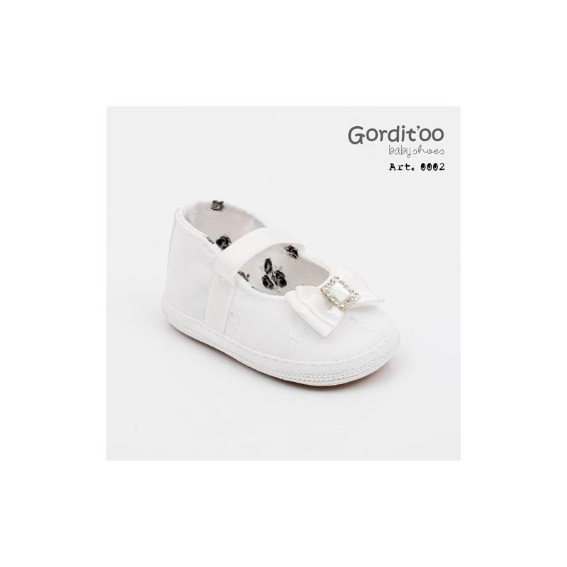 Balerina blanca broderie beba Gorditoo