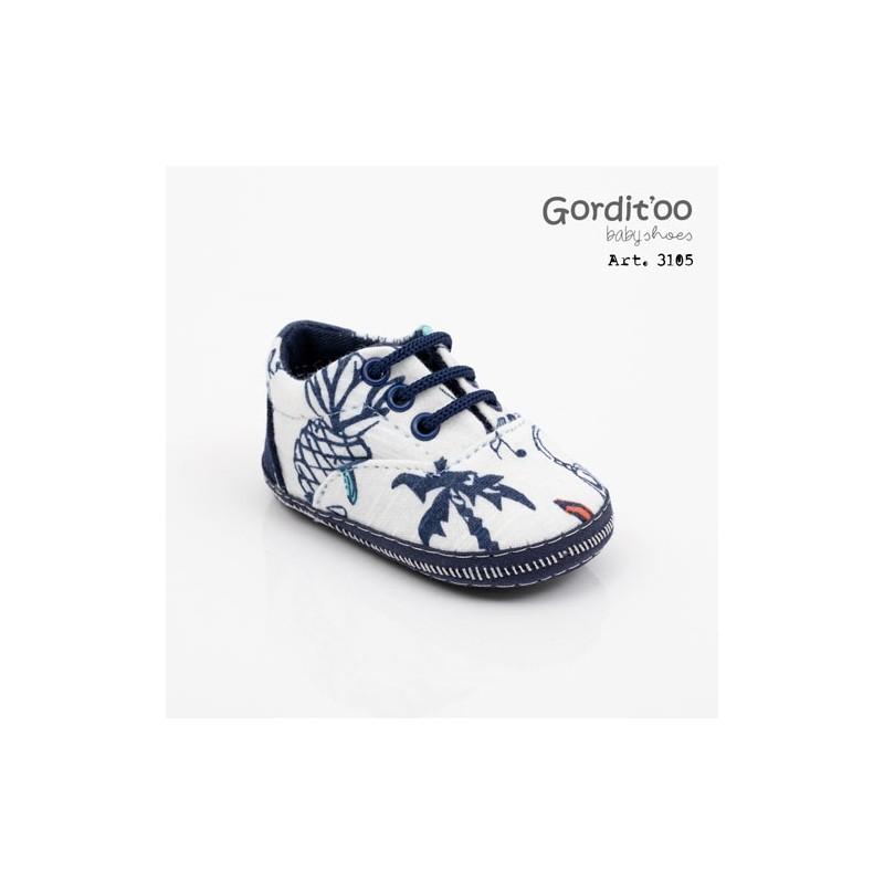 Zapatilla jean celeste bebé Gorditoo
