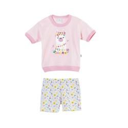 Pijama estampado beba Naranjo