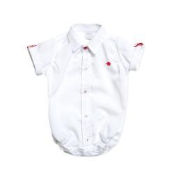 Body camisa blanco bebe Pilim