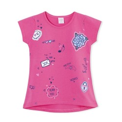 Remera parches glitter nena Ruabel