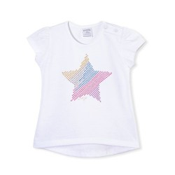 Remera estrella glitter beba Ruabel