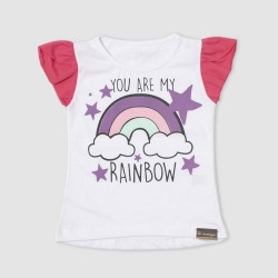 Remera arcoiris nena Cheito