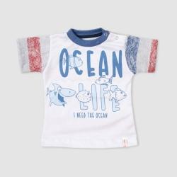 Remera oceano bebé Cheito