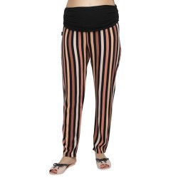 Pantalon fibrana rayado Que Sera