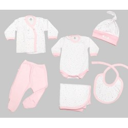 Ajuar de bebe 6 piezas estampado suave Gamise