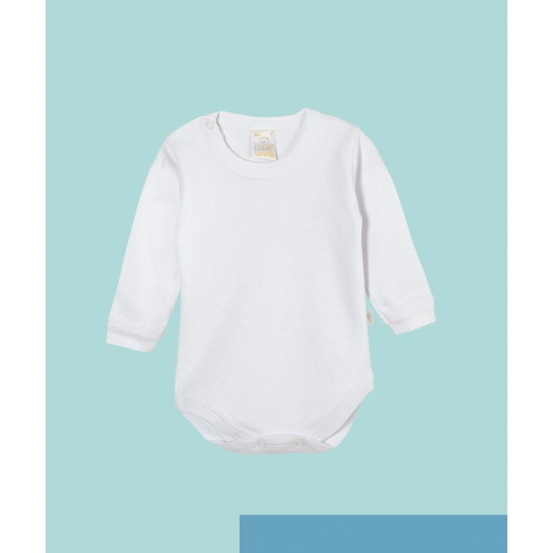 Body manga larga blanco Naranjo