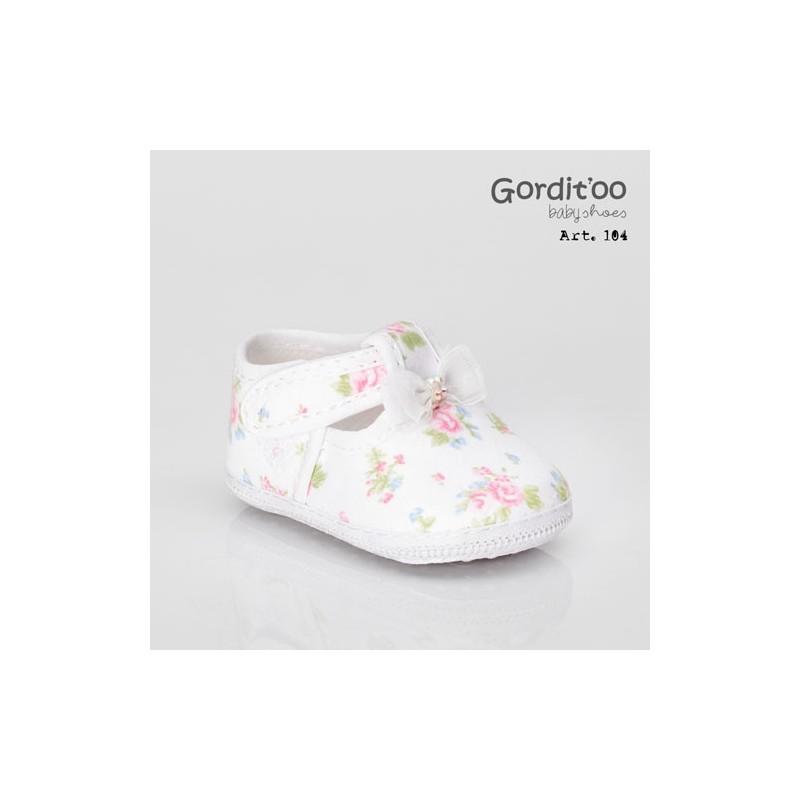 Guillermina beba blanca con flor Gorditoo