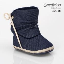 Bota caña alta jean bebé Gorditoo
