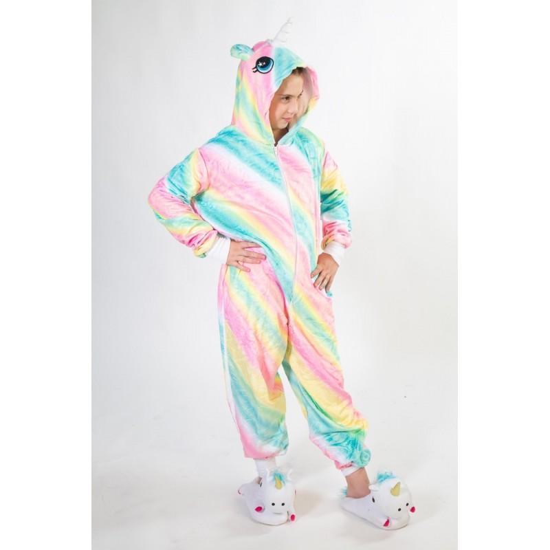 Pijama de unicornio multicolor