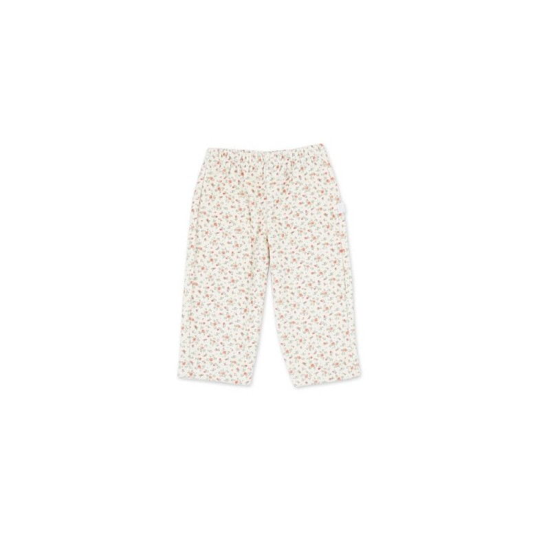 Pantalon floreado de plush beba Naranjo