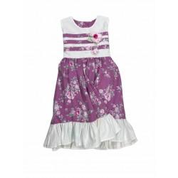 Vestido corderoy floreado nena Cherto