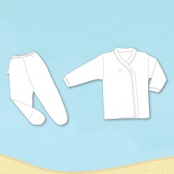 Conjunto de batita y medio osito blanco Gamise