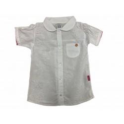 Camisa blanca con bordado Premium Only Baby