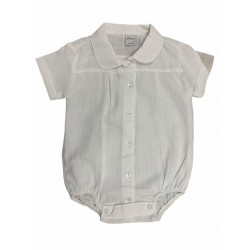 Body camisa blanca bambula Pilim