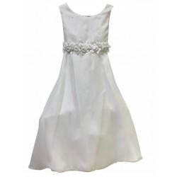 Vestido de comunion con cinto de flores Children Dior