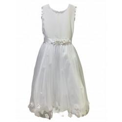 Vestido de comunion con tul y flores Children Dior