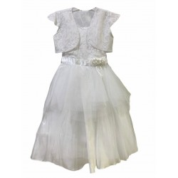 Vestido de comunion con toretira de encaje Children Dior