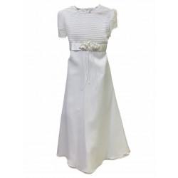 Vestido de comunion alforzado Children Dior