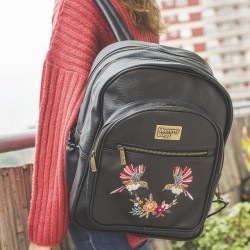 Mochila Olivia bordada black birds