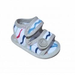 Sandalia rayada bebe Gorditoo
