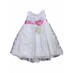 Vestido beba encaje sin mangas Nora Dassie