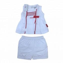 Conjunto blanco con rojo beba Premium Only Baby Verano Off