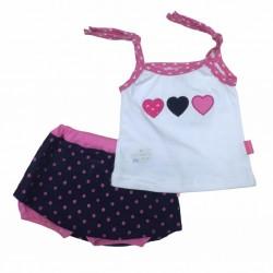 Conjunto con pollera pantalon Premium Only Baby Verano Off