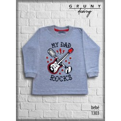 Remera bebe rock Gruny